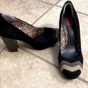 Beautiful Missoni for Target heels, black grey